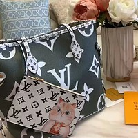 LV new two-sided color matching women's shopping bag tote bag mother and child bag two-piece set