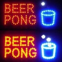 "Neon LED Sign Bar Flashing Lights ""Beer Pong"" Text"