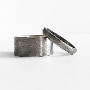 Oxidized Sterling Band Ring