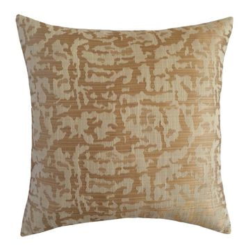"""Linen Polyester Puzzle Pattern 18""""x18"""" Cream/Beige Pillow Case/Cushion Cover"""