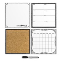 White 4 Piece Organizer Set | Salem State University Dorm Room Decor | OCM.com