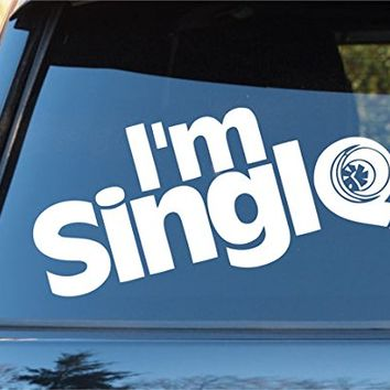 Im single turbo car window windshield lettering decal sticker decals stickers drift dub vw stance audi