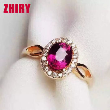 Real garnet gem ring 100% natural gemstone Genuine 925 sterling silver wedding red jewelry Noble woman jewelry