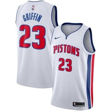 Men's Detroit Pistons #23 Blake Griffin Nike White Replica Swingman Jersey - Association Edition - Best Deal Online