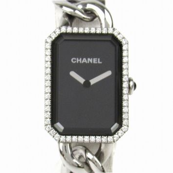 CHANEL Première Bezel Diamond Watch H3254 Quartz Black Stainless steel