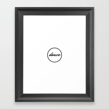 dance (in a circle) Framed Art Print by Love from Sophie