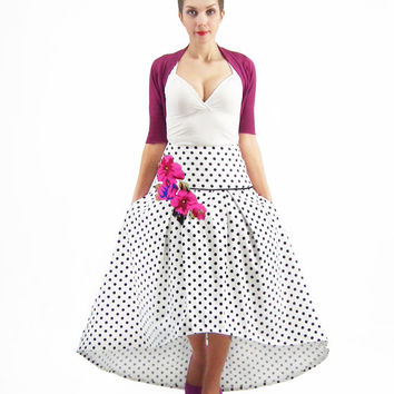 Maxi Skirt, Bridesmaid Skirt, High Low Skirt, Circle Skirt, Full Polka Dots Skirt, Plus Size Skirt, Maxi Skirt With Pockets, Floral Skirt
