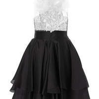 Bird and Floral Embroidery Cocktail Dress   Moda Operandi
