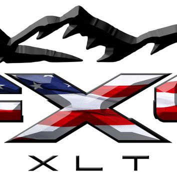 FX4 XLT Mountains American Flag 3D Vinyl Decal Fits All Makes and Models