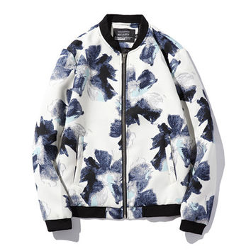 Men Jackets Flowers Men's Slim Fits Coats Casual Men Jackets Plus Size SM6