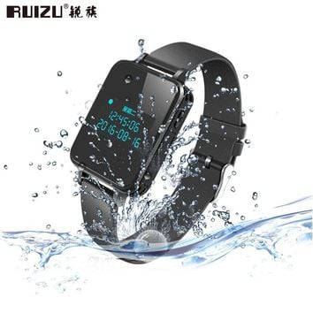 RUIZU K18 MP3 HiFi Music Player Sport Watch Bluetooth Professional Voice Recorder 16GB/8GB Wristband Noise Reduction