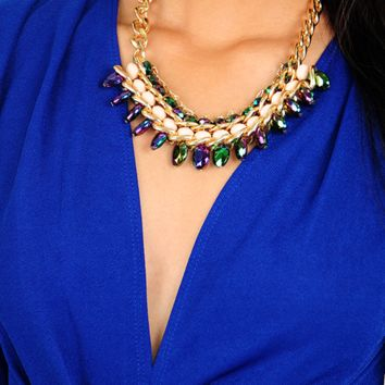 Link Well Together Necklace: Multi - One