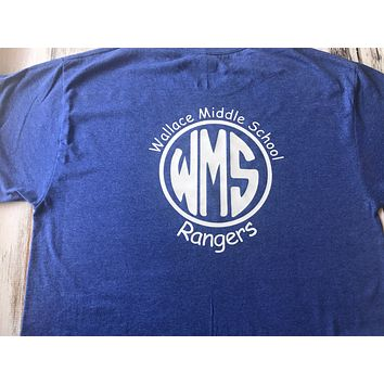 WMS Wallace Middle School School Spirit shirt