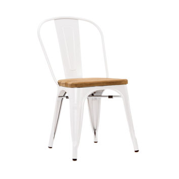 Bistro Dining Chair in White - Set of 2