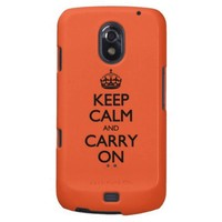 Tangerine Tango Keep Calm And Caryy On Samsung Galaxy Nexus Cases