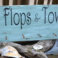 Wording Can Be Customized, Hanging Rack, Great Beach Decor, Indoor or Outdoor, Great for Hanging, Pool, Beach Bar, Tiki, Flip Flops