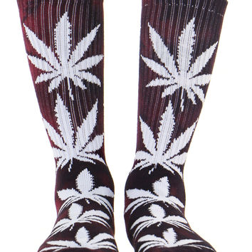 TIE DYE WINE PLANTLIFE SOCKS