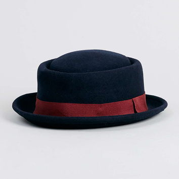 Navy Pork Pie Hat - Topman