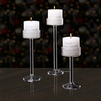 New Style Classic Glass Candle Holder Wedding Bar Party Home Decor Decoration Fashion Candlestick  Goblet Tall Candlesticks