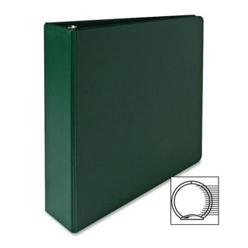 "Sparco Products 3-Ring Binder, 2"" Capacity, 11""x8-1-2"", Green - CASE OF 8"