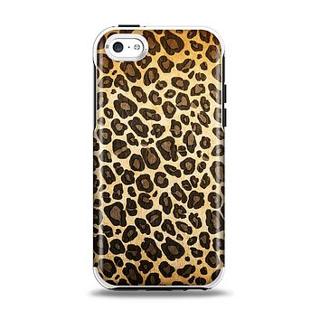 The Vibrant Leopard Print V23 Apple iPhone 5c Otterbox Symmetry Case Skin Set