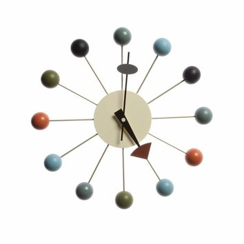 George Nelson Mid-century Modern Inspired Ball Clock