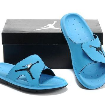 Nike Air Jordan Blue Casual Sandals Slipper Shoes Size US 7-13