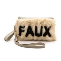 Me and Her Casselini Faux Fur Cross Body Clutch