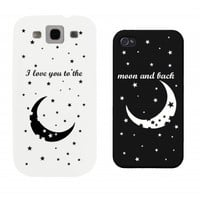 I Love You to the Moon and Back Couples Matching Cell Phone Cases for iphone 4, iphone 5, iphone 5C, iphone 6, iphone 6 plus, Galaxy S3, Galaxy S4, Galaxy S5, HTC One M8, LG G3