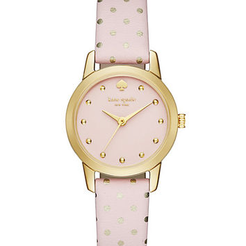 Kate Spade Mini Polka Dot Metro Watch Pale Pink/Rose Gold ONE