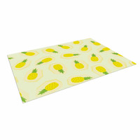 "Strawberringo ""Pineapple Pattern"" Yellow Fruit Indoor / Outdoor Floor Mat"