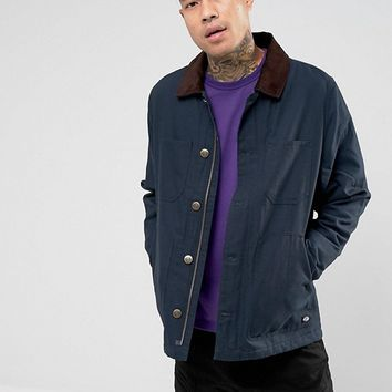 Dickies Canvas Jacket With Corduroy Collar at asos.com