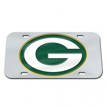 DCCKG8Q NFL Green Bay Packers Wincraft Crystal Mirror License Plate