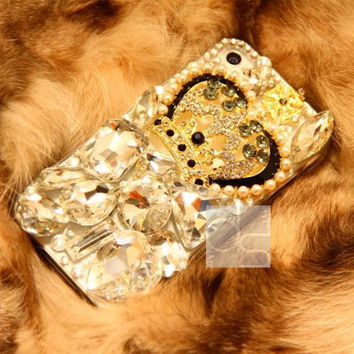 Bling iPhone 5 S Case iPhone 5C Cover iPhone 4S Bling Case iPhone 3 G Case iPhone 3G Case for iPhone 4G Skin Case iPhone 5S Bling Case Crown