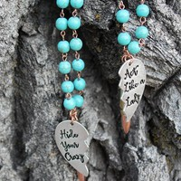 Hide Your Crazy and Act Like a Lady - Best Friend Necklace Set