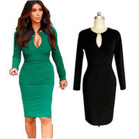 Long Sleeve Cut-Out Midi Dress
