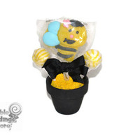 Mini Bumble Bee Lollipop Arrangement, Bumble Bee Lollipop Favor, Bumble Bee, Lollipop, Candy, Baby Shower, Favor, Edible, Garden Party
