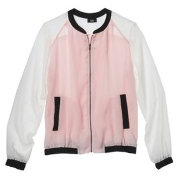 Mossimo® Women's Woven Bomber Jacket - Pink