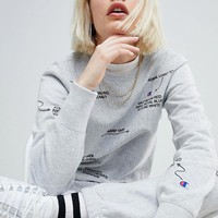 Champion Description Crew Neck Sweatshirt Co-Ord at asos.com
