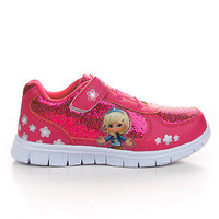 807K Children Girls Round Toe Lace Up Sparkling Athletic Sneaker Shoes