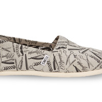 TOMS for Movember Grey Barber Shop Women's Classics