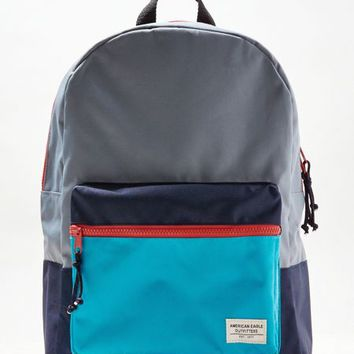 AEO Men's Colorblock Backpack (Grey)