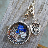 Baseball Floating Keepsake Glass Living Locket