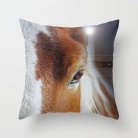 horses Throw Pillow by Mark Ashkenazi