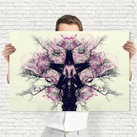Art Nouveau Print - Batik Style Tree Wall Art, Digital Download | Woodland Decor by Mila Tovar