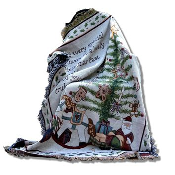 Tache Merry Christmas Tree Morning Tapestry Throw with Fringe (2271)