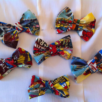 Marvel Superhero Fabric Hair Bow Avengers Comic by StylishGeek