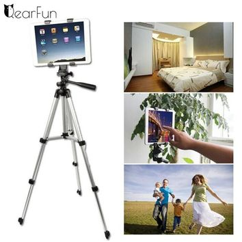Top Quality Flexible 4 Sections Tripod Camera Monopod Stand Mount For DV DV Video Recorders Ipad Mobile Phone Holder
