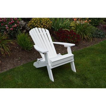 A & L Furniture Recycled Plastic Folding And Reclining Fanback Adirondack Chair  - Ships FREE in 5-7 Business days