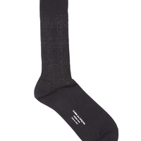 Lurex Knit Socks